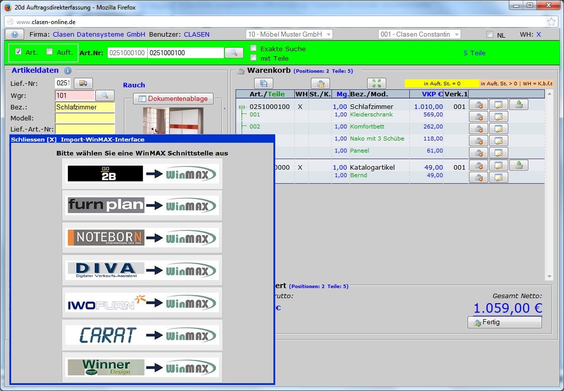 Clasen Datensysteme Gmbh Software Für Den Möbelhandel